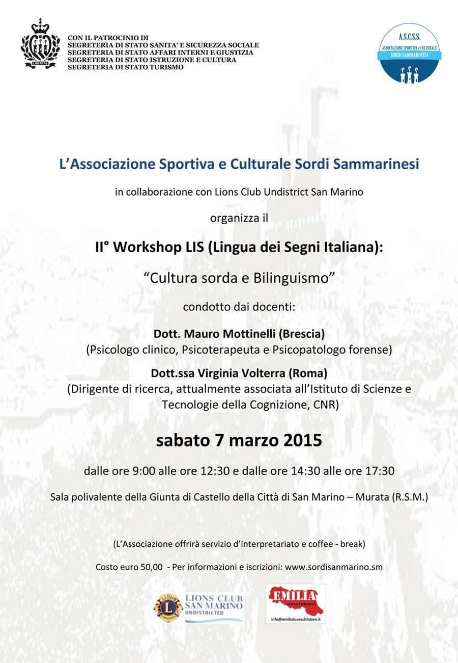 workshop san marino 7 marzo 2015